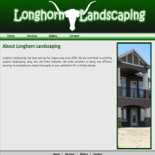 Long Horn Lanscaping Website